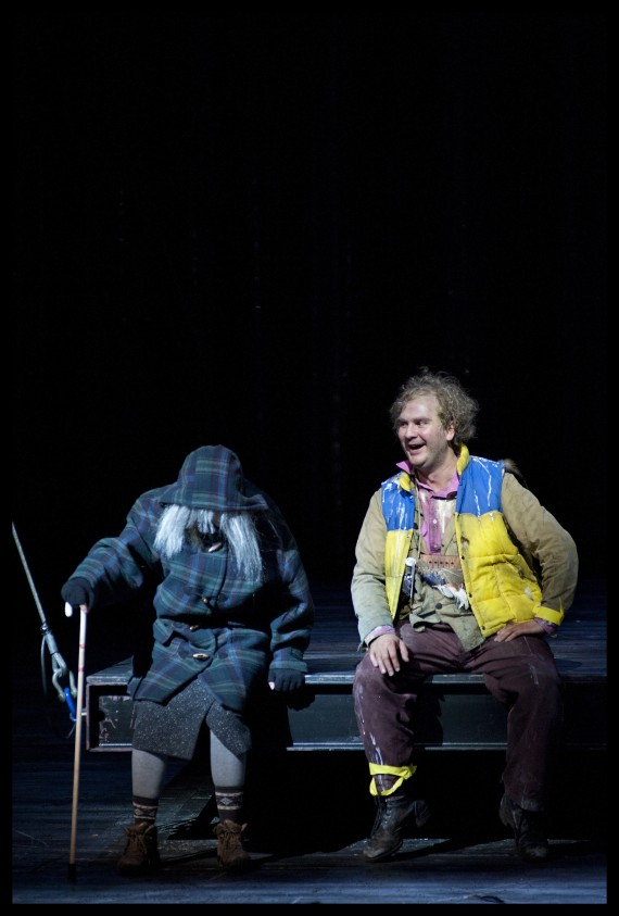 Papagena (Ein Altes Weib), Die Zauberflöte, Dutch National Opera 2012 (Thomas Oliemans as Papageno) Photo: Clärchen and Matthias Baus